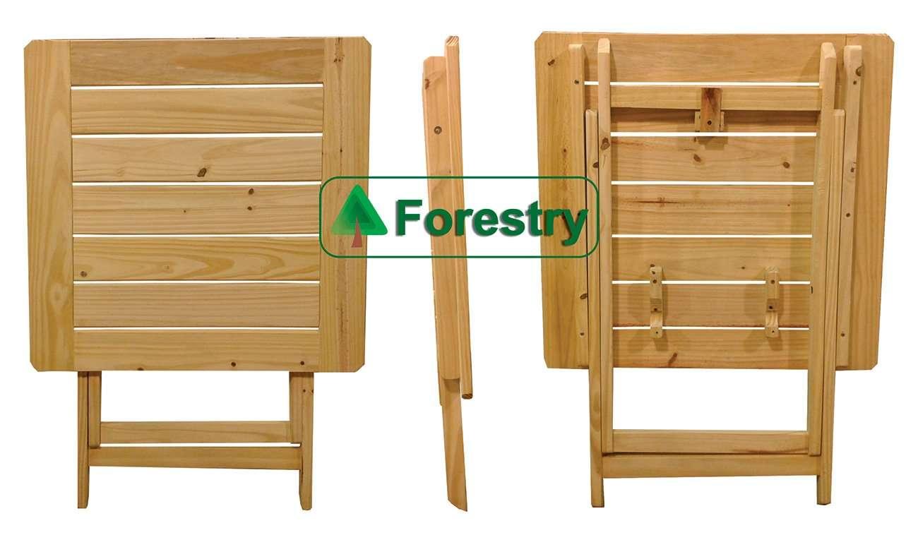 Mesa plegable tipo bar reforzada pino fabrica de muebles for Patas de mesa plegables