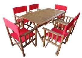juego de mesa y 6 sillones