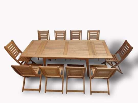 Mesa extensible + 10 sillas nuva