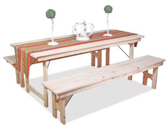 Mesas y bancos 2mts